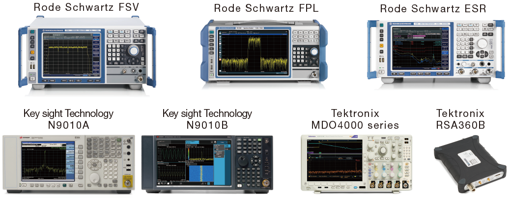 A wide variety of standard-compliant spectrum analyzer drivers